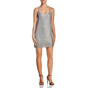 AQUA -Sequined Sleeveless dress